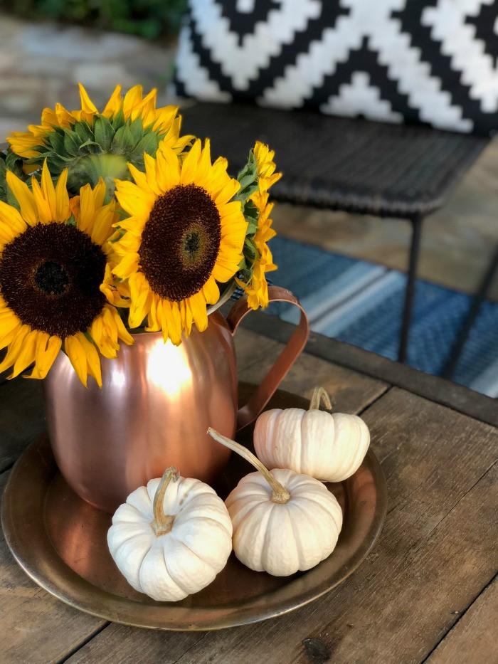 sunflower fall centerpiece idea