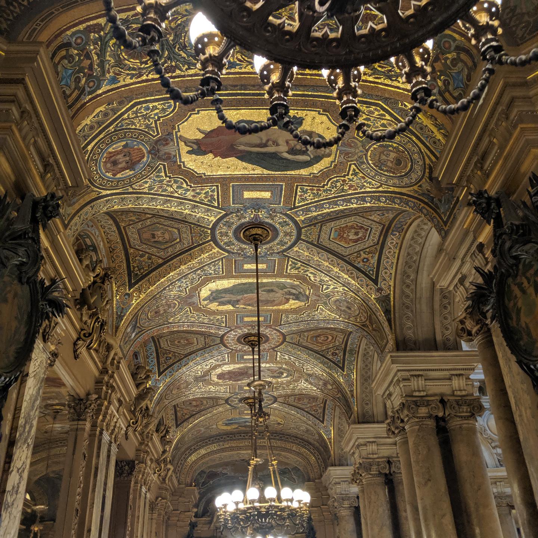 Ceiling Detail at the Palais Garnier Paris Opera House