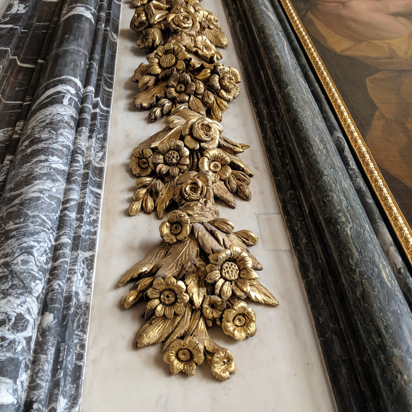 Gilded Floral Wall Carving at Versailles