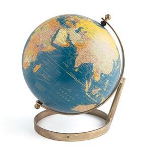 Antiqued Brass Decorative Globe