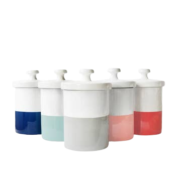 Color-Blocked Treat Canister