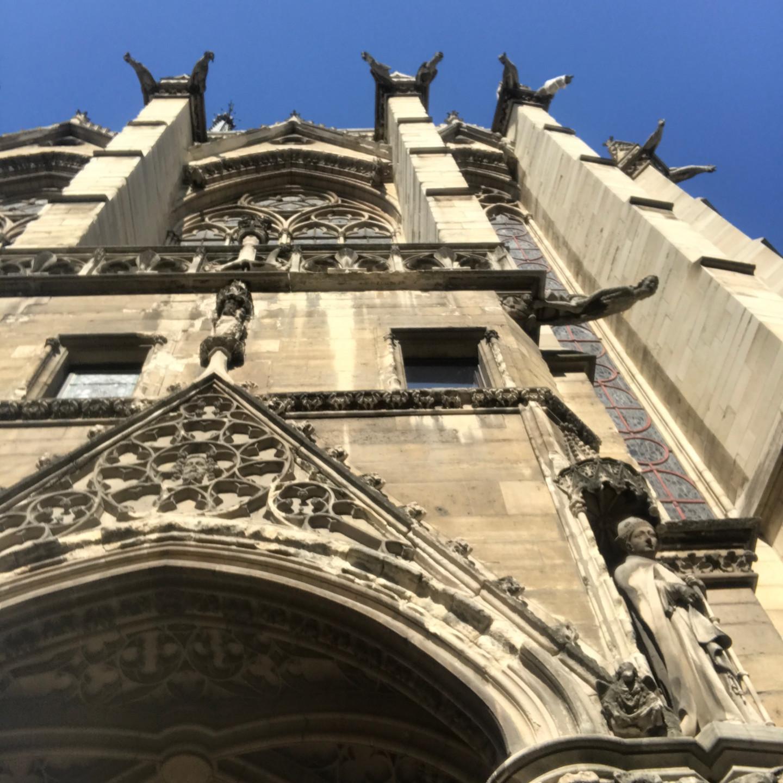 Stonework on Exterior of Saint Chapelle in Paris