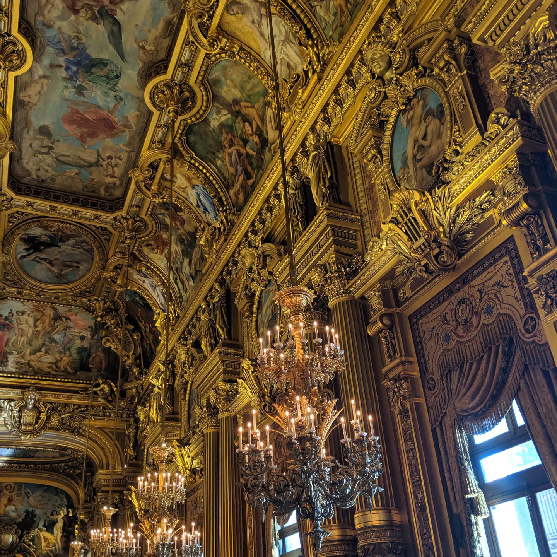 Ballroom Ceiling & Chandeliers at the Palais Garnier Paris Opera House