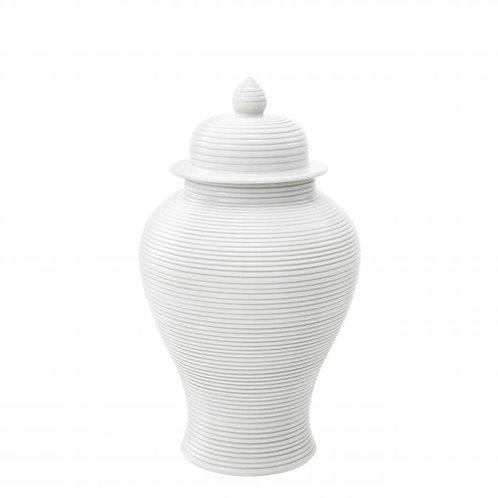 White Porcelain Ginger Jar