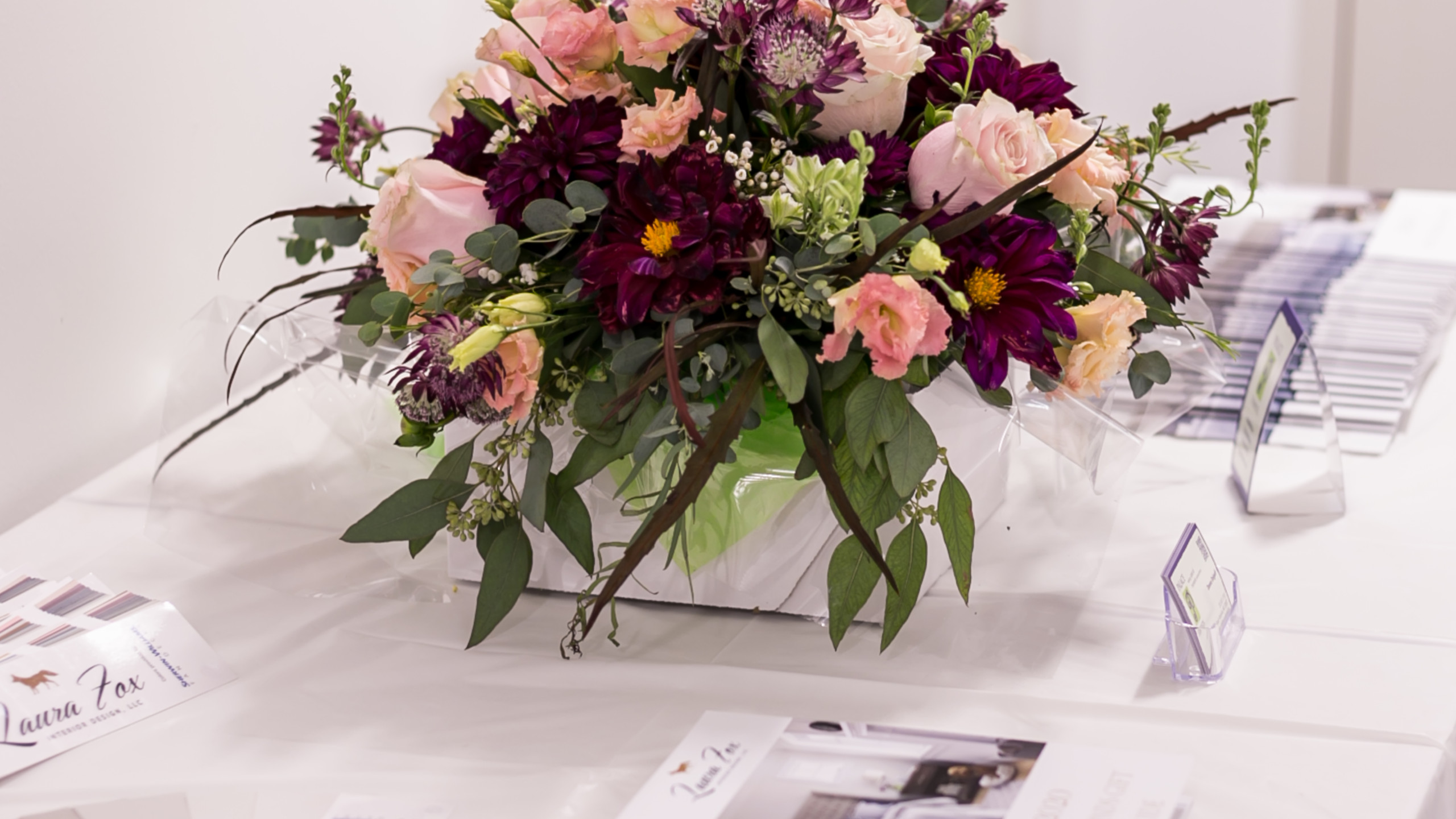 Burgundy and Blush Floral Centerpiece