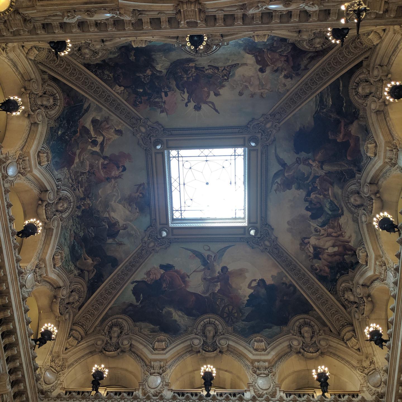 Ceiling Detail in the Lobby at the Palais Garnier Paris Opera House