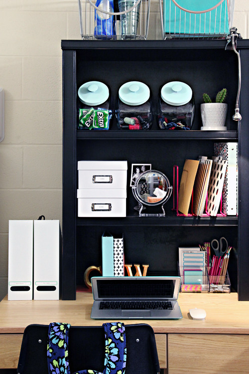 Dorm Study Space by I Heart Organizing