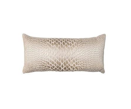 Champagne Snake Print Pillow
