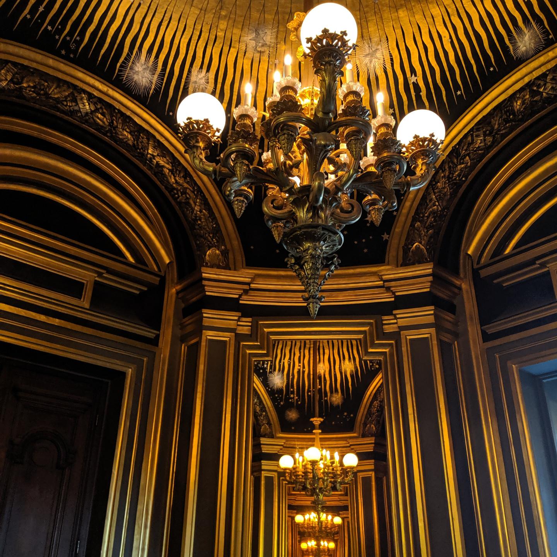 Round Room with Mirrors at The Palais Garnier Paris Opera House