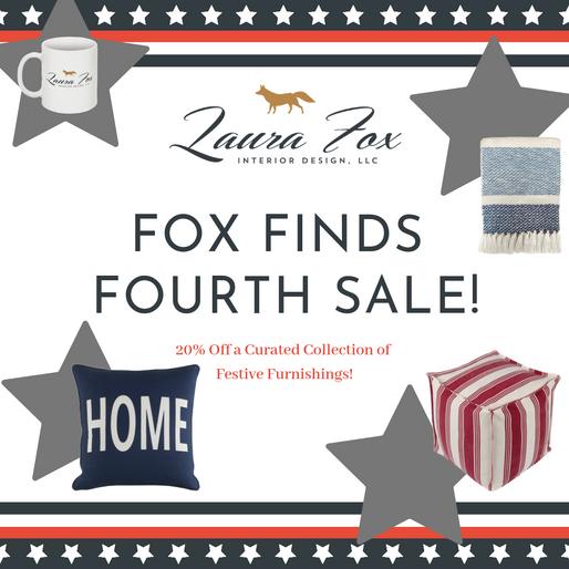 A FOXY FOURTH! - 20% OFF FESTIVE FOX FINDS