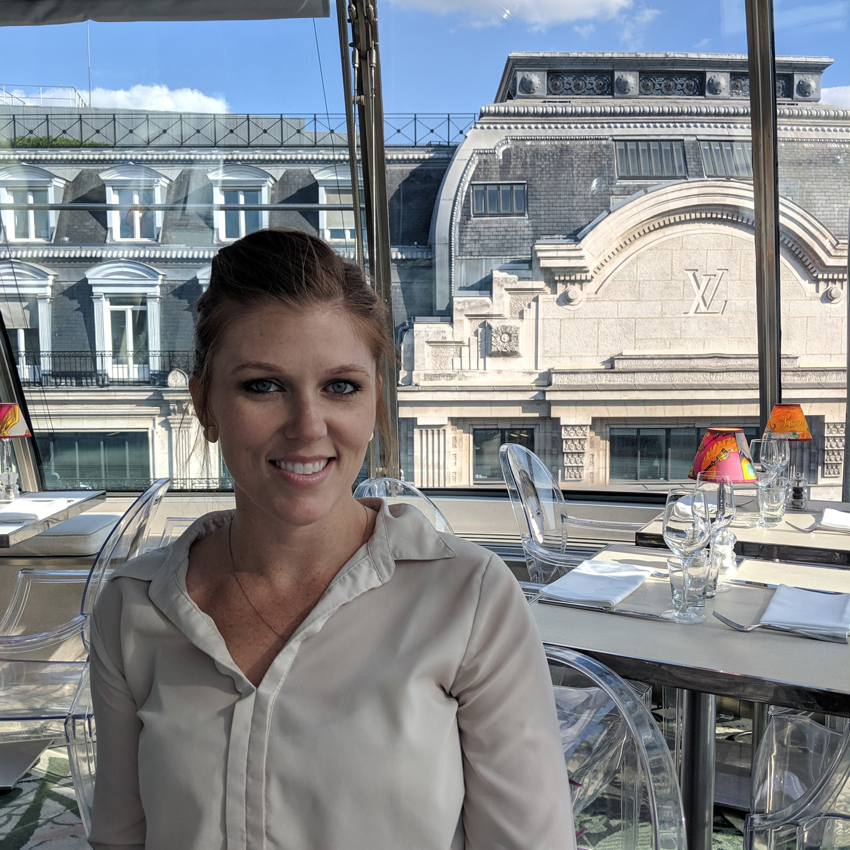 Laura Fox at Kong Restaurant Paris