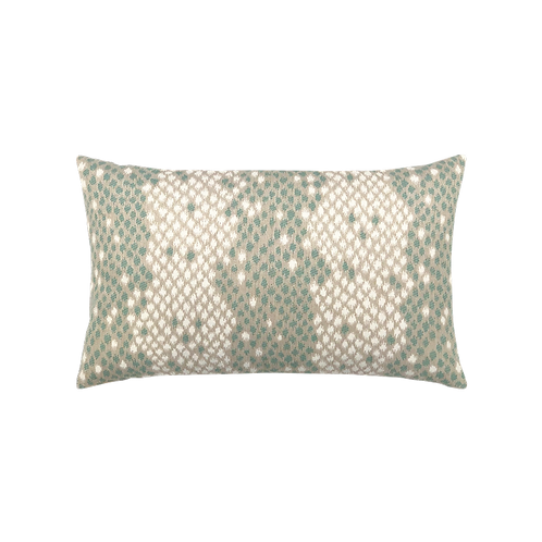 Mint Green Snake Print Pillow