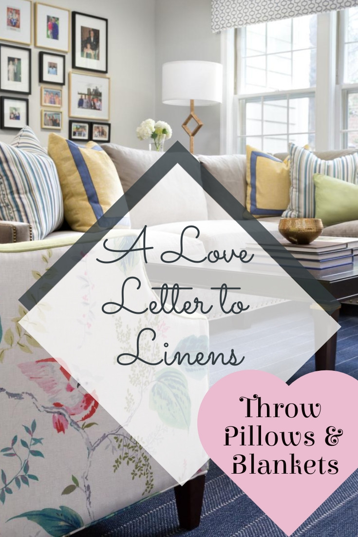 How to add personality with throw pillows & blankets