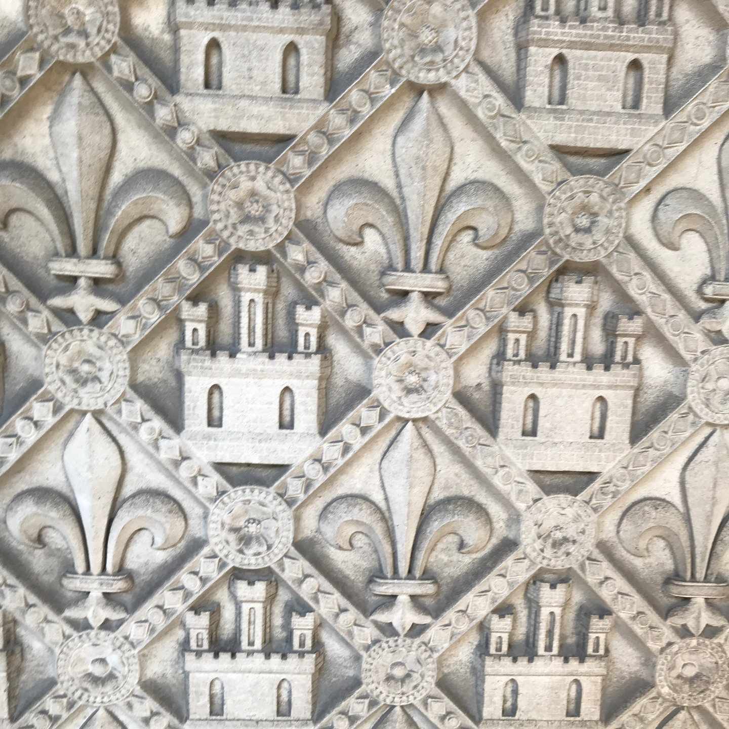 Carved Stonework at Sainte Chapelle in Paris