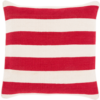 Prime Red Striped Throw Pillow Gmtry Best Dining Table And Chair Ideas Images Gmtryco