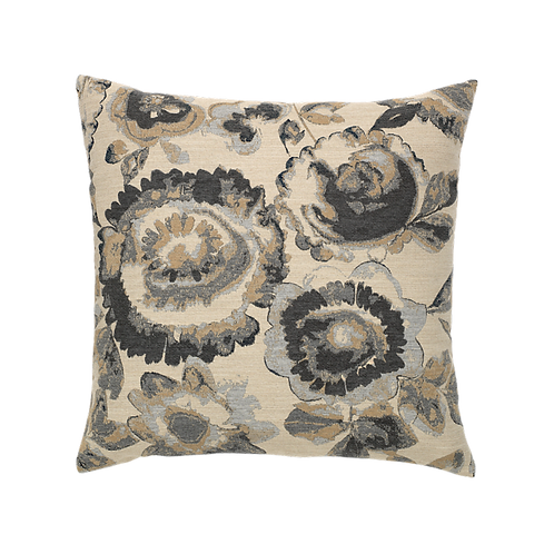 Beige & Grey Floral Pillow