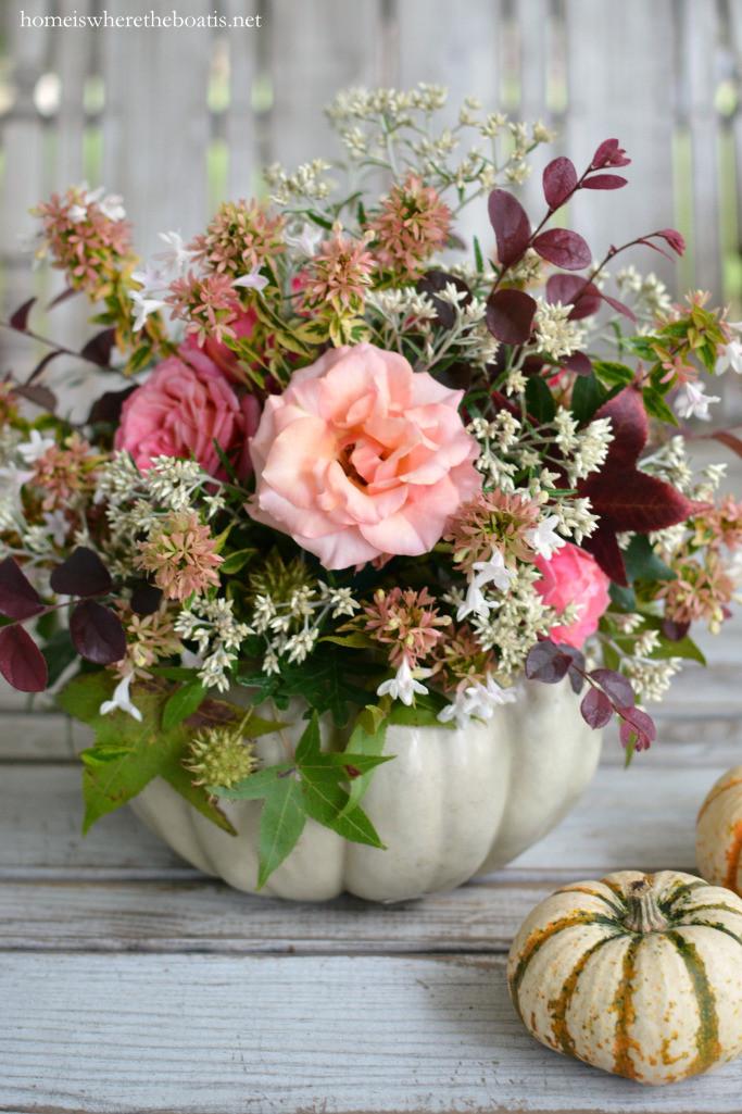 pumpkin vase centerpiece