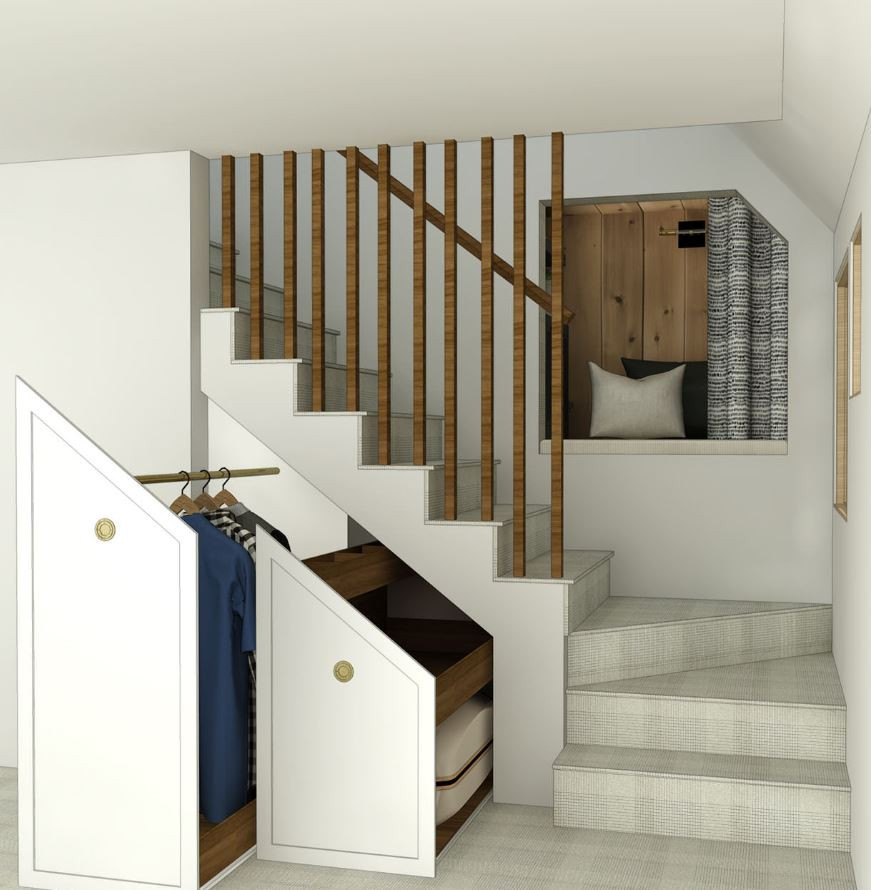 Creative Under Stairs Built-In Solutions