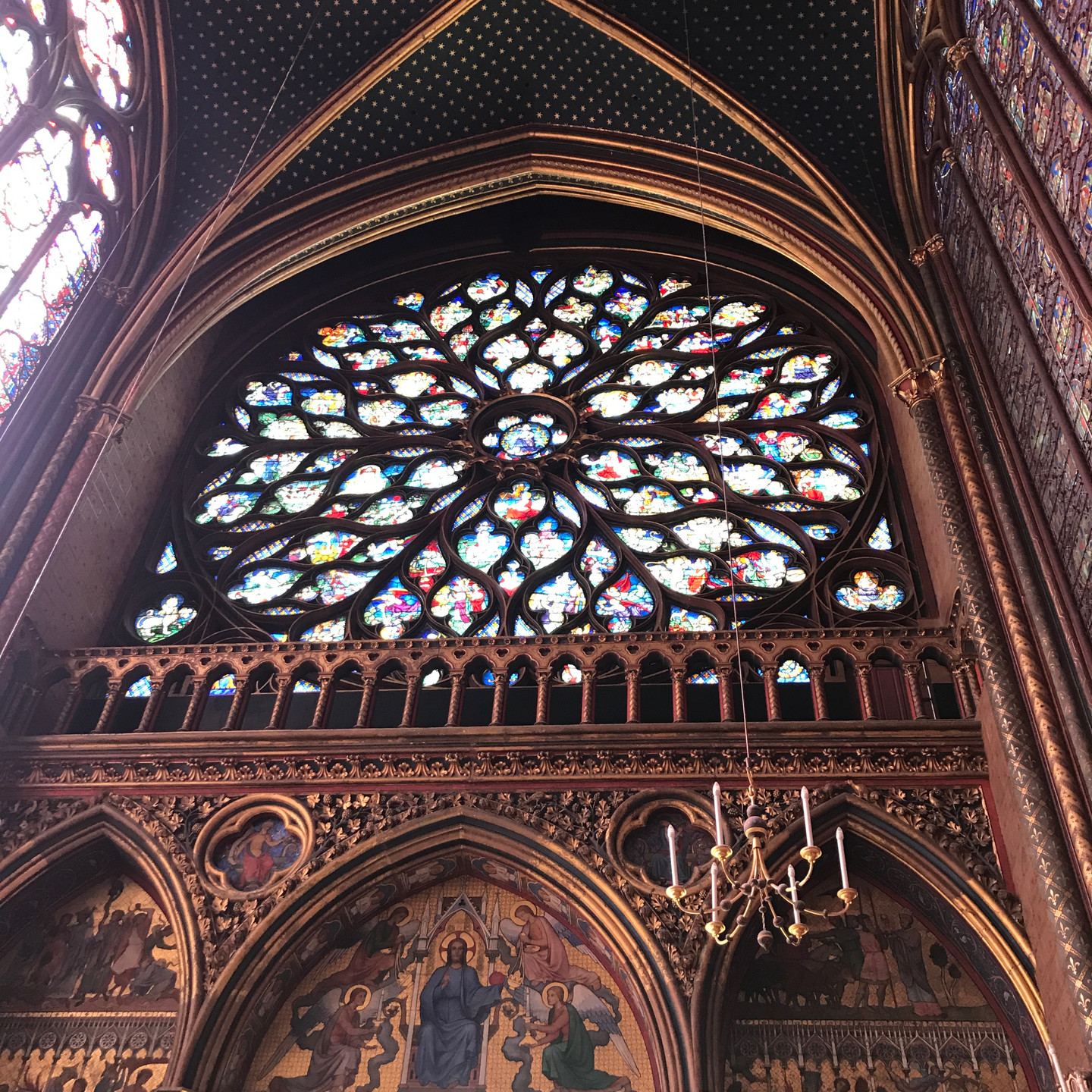 Stained Glass Medallion at Sainte Chapelle in Paris