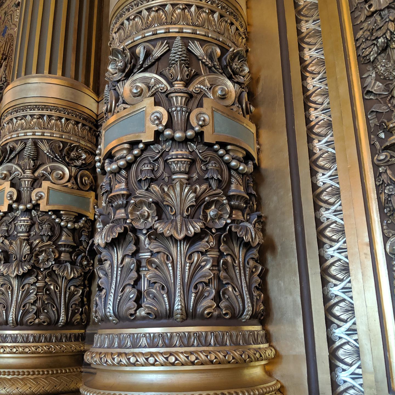 Carved Wall Detail at the Palais Garnier Paris Opera House
