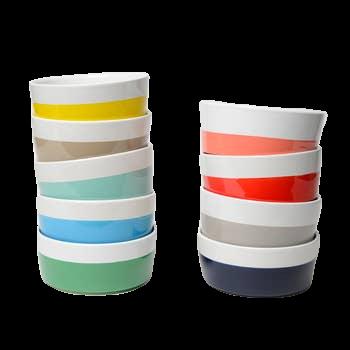 Color-Blocked Dog Dish