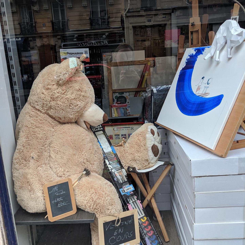 Paris Teddy Bear Painting