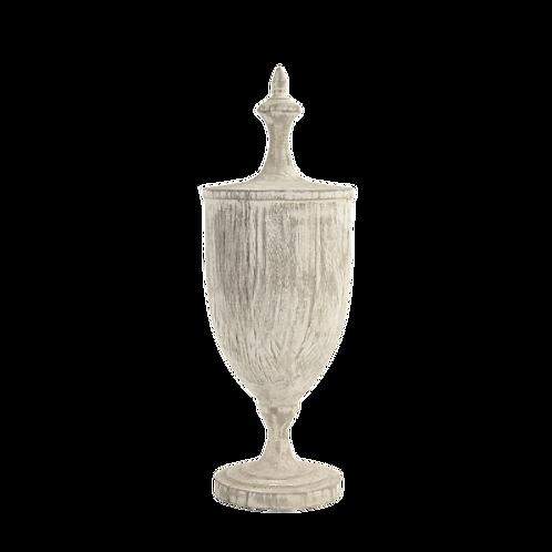 Washed Wooden Urn