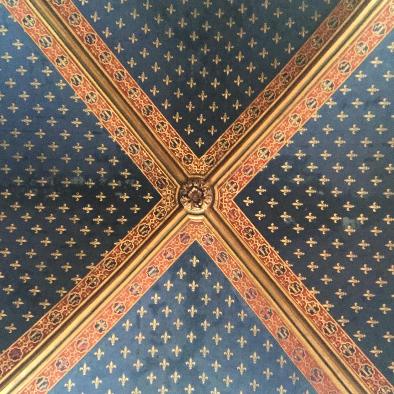 Vaulted Ceiling Detail at Sainte Chappelle in Paris