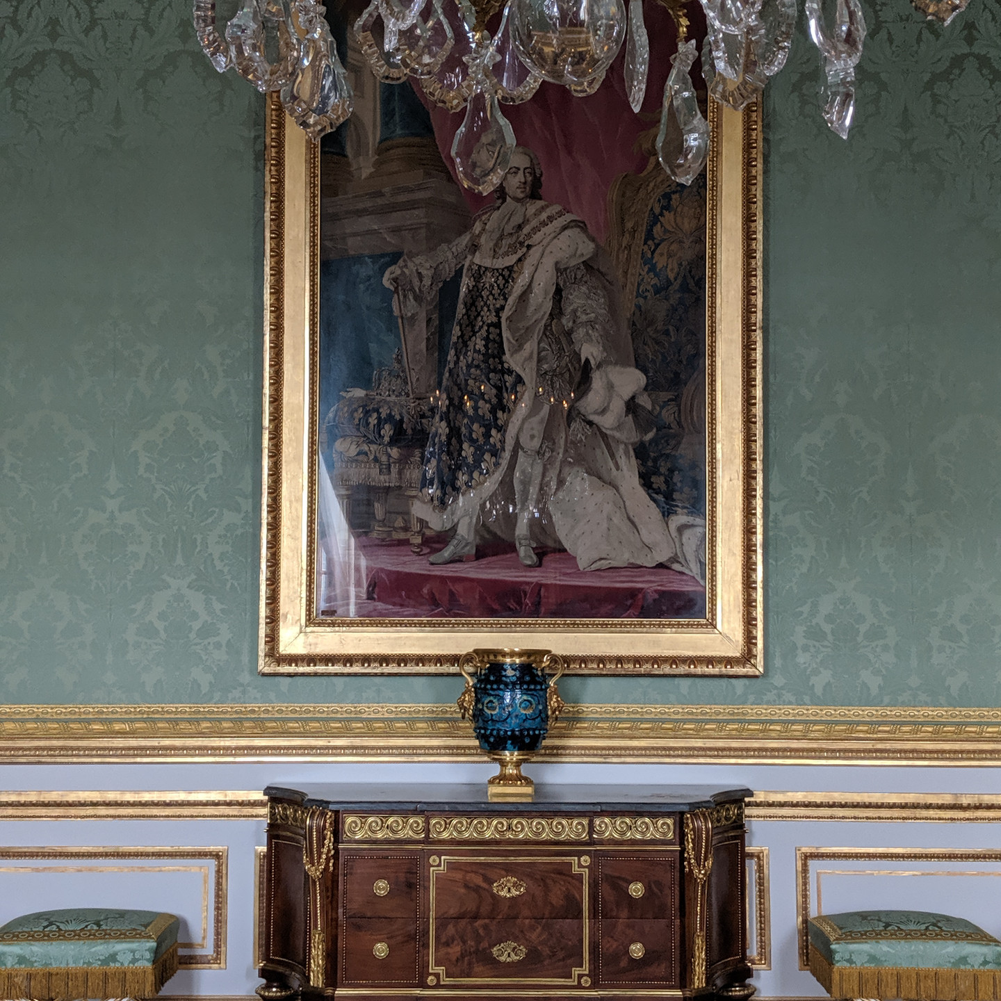 Chest of Drawers and Ottomans at Versailles