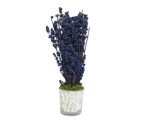 Lavender Arrangement in Mercury Glass Vase
