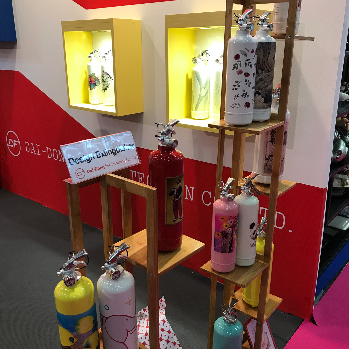 Decorated Vintage Style Fire Extinguisher