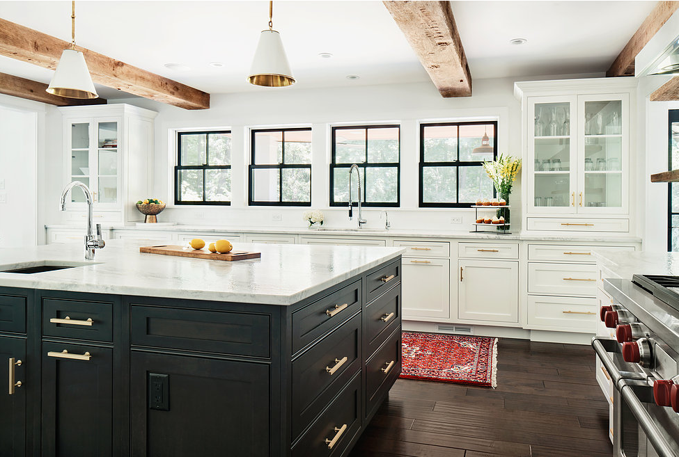 Modern Farmhouse Kitchen by Z+ Interiors
