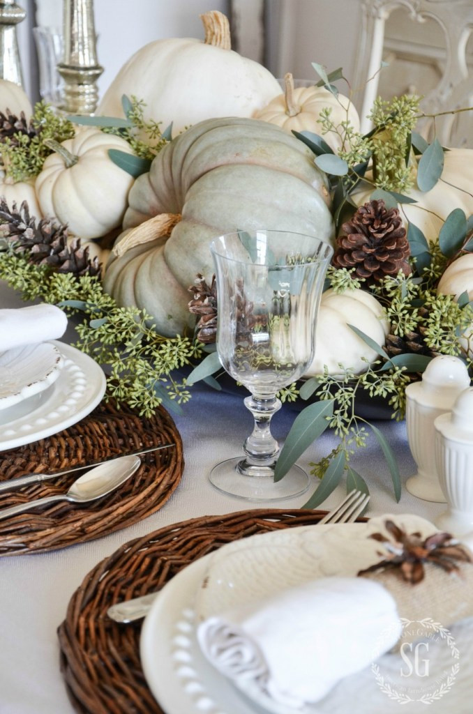 Fall Tablescape by Stone Gable Blog