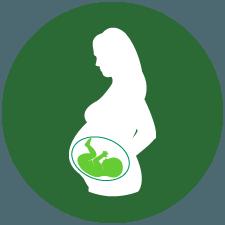 Těhotná matka a dítě