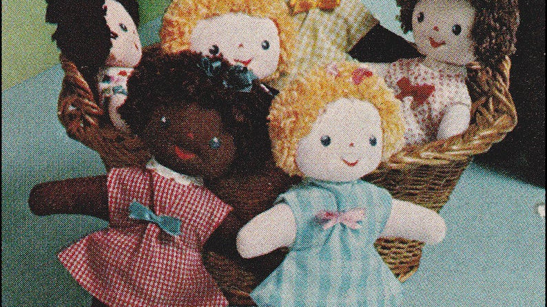 "Adorable DollsSewing Pattern PDF Vintage 10"" Adorable Dolls - Soft Fabric Dolls"
