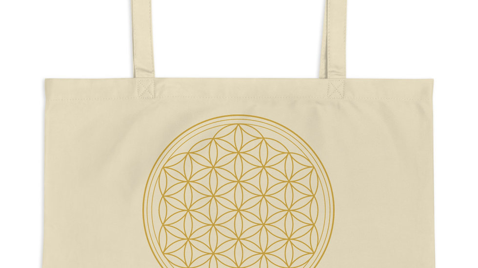 Flower of Life Large Organic Tote Bag