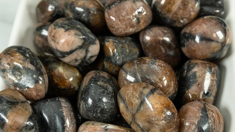 Chiastolite, Tumbled Stone