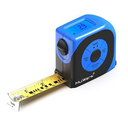 MulWark 16ft Digital Tape Measure, Large LCD Digital Display with Backlight, Fee