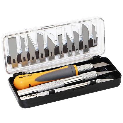 MulWark 16pc Precision Craft Hobby Utility Knife Set