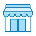 A imagem retrata uma loja nova, em que o principal produto para o client da consultoria é um plano de negócios.