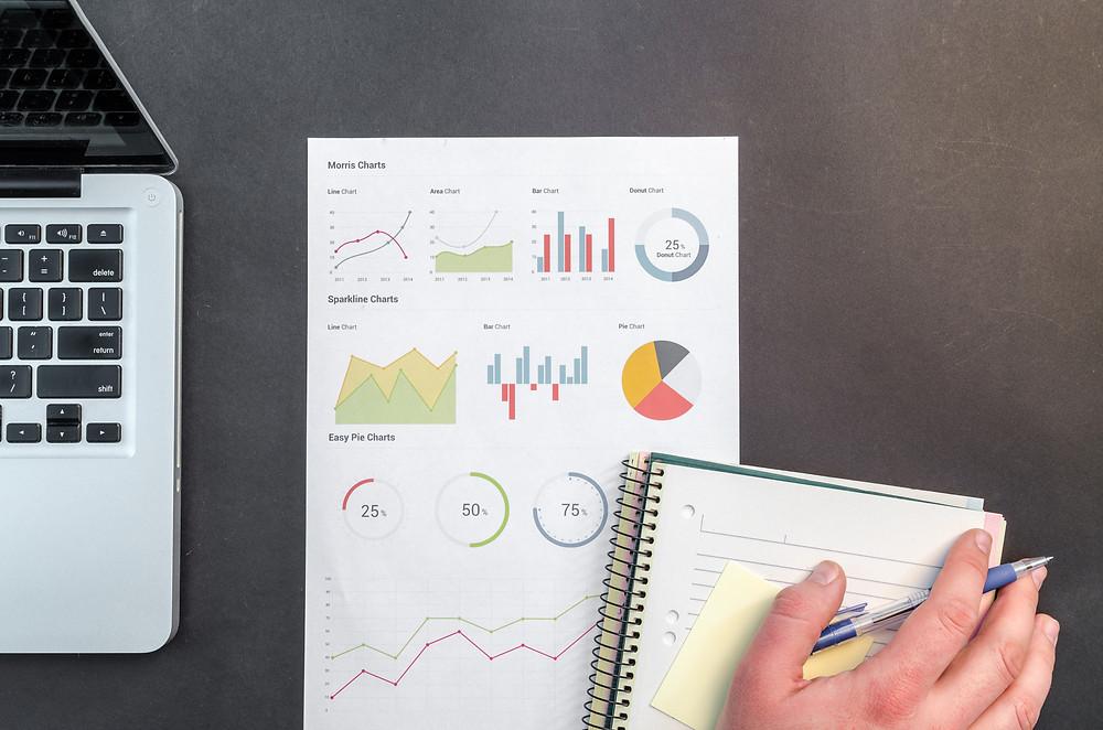 planilha de infográficos e metas