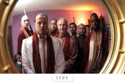 CT wedding photo rifles groom and groomsmen Justin Fornal Baron Ambrosia Bronx flavor