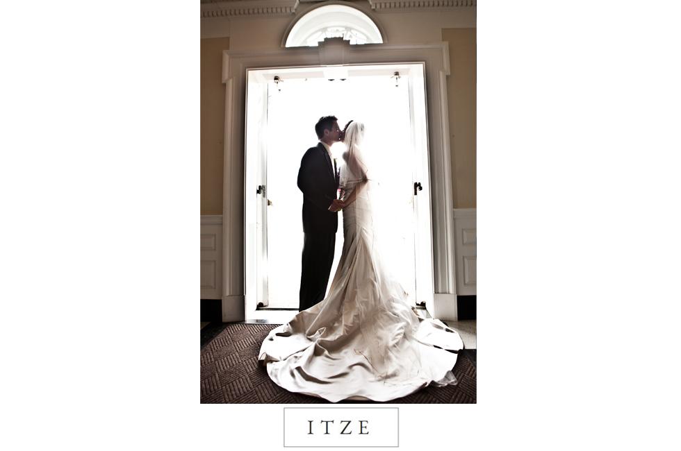 CT wedding photo church doorway