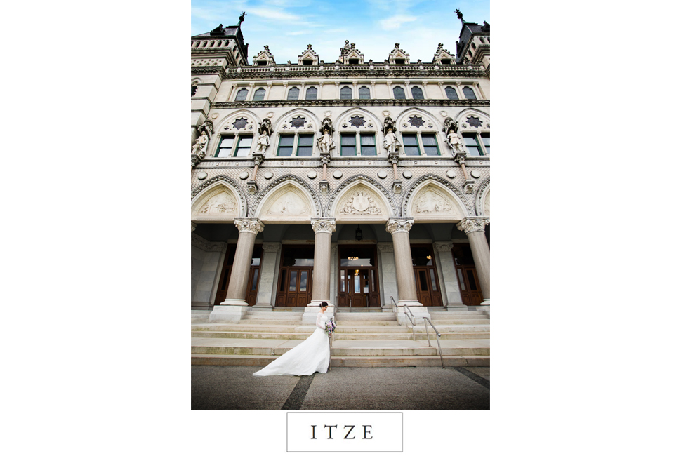 CT wedding photo Hartford City Hall bride castle