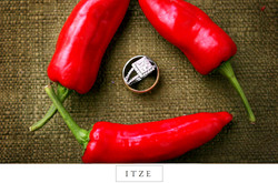 CT wedding photo rings and chili peppers