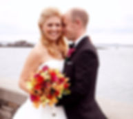 CT Wedding Photographer album design at Glen Island Harbour Club in New York Bride and Groom by the water
