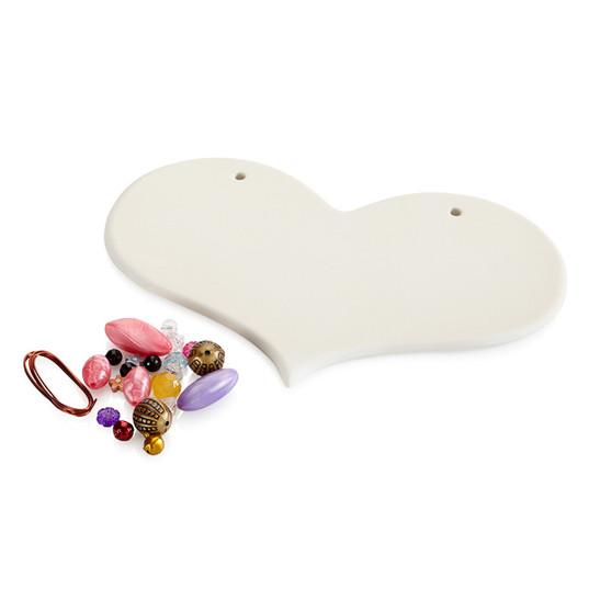 Heart Beaded Plaque