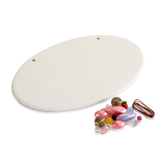 Oval Beaded Plaque