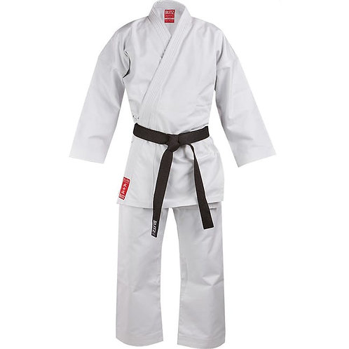 Adult Silver Tournament Karate Suit (14oz) - with badge