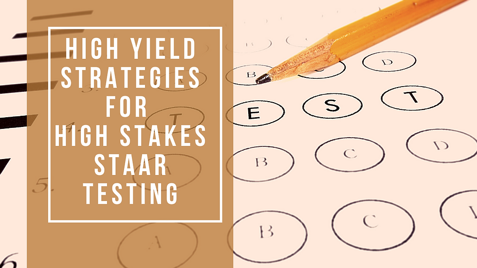 High Yield Strategies for High Stakes STAAR Testing (Grade 3)